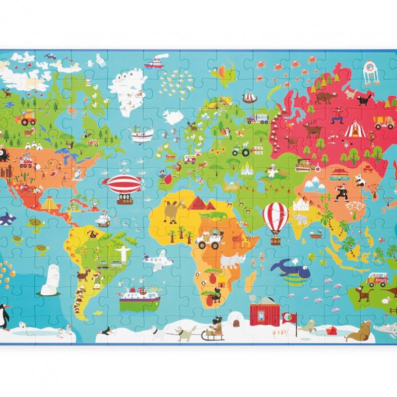 Scratch - Puzzel wereldkaart