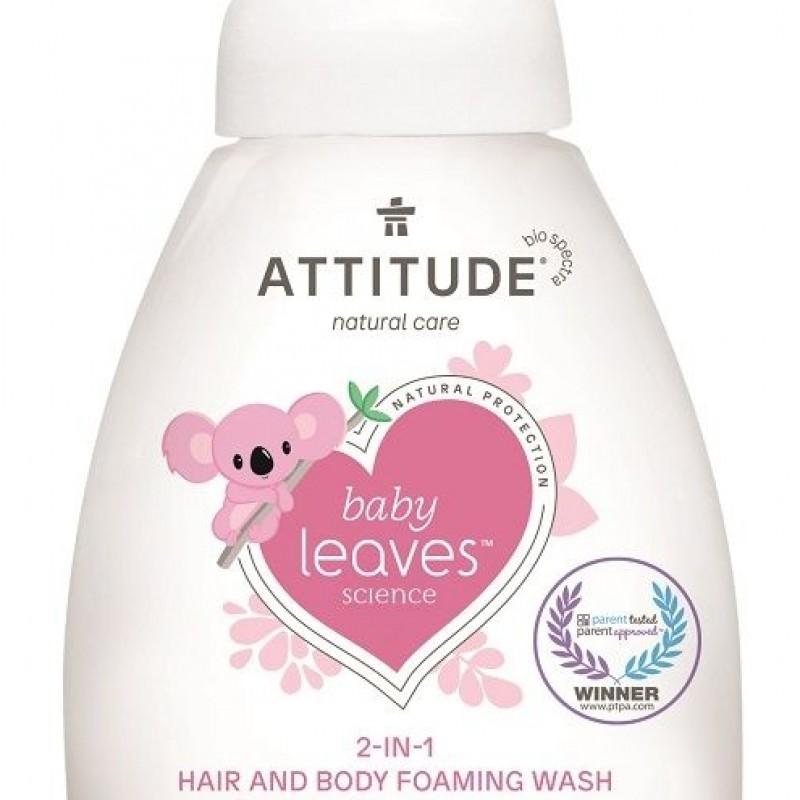 Attitude - Baby leaves 2in1 shampoo & body wash geurvrij 295 ml