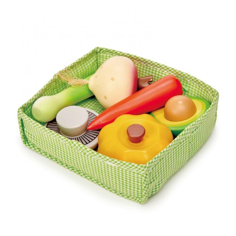 Tender leaf toys - mandje met groenten