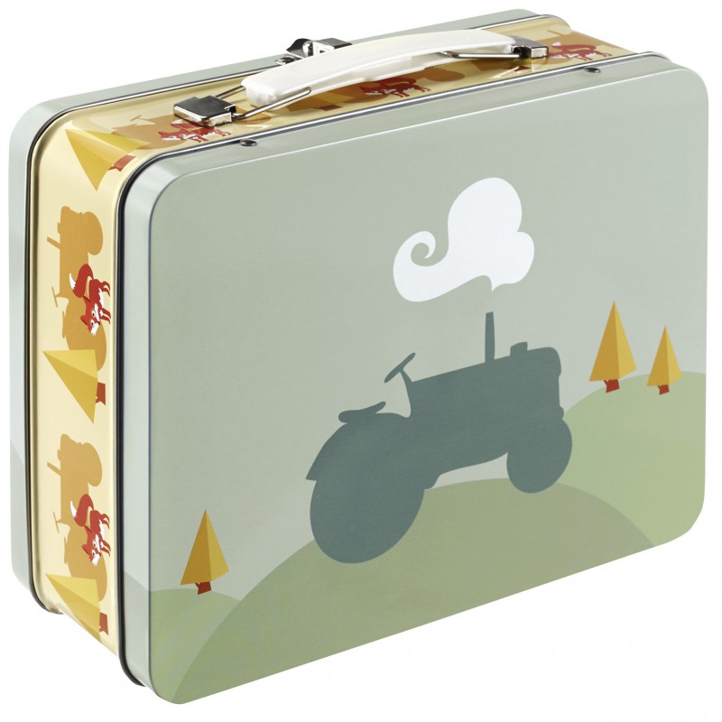 Blafre - tin suitcase tractor