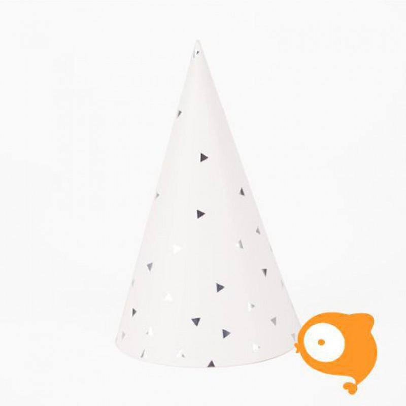 My little day - Papieren hoedjes driehoek metallic - set van 8