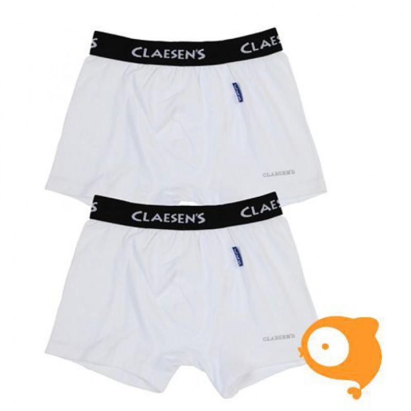 Claesen's - Set van 2 boxershorts voor jongens wit