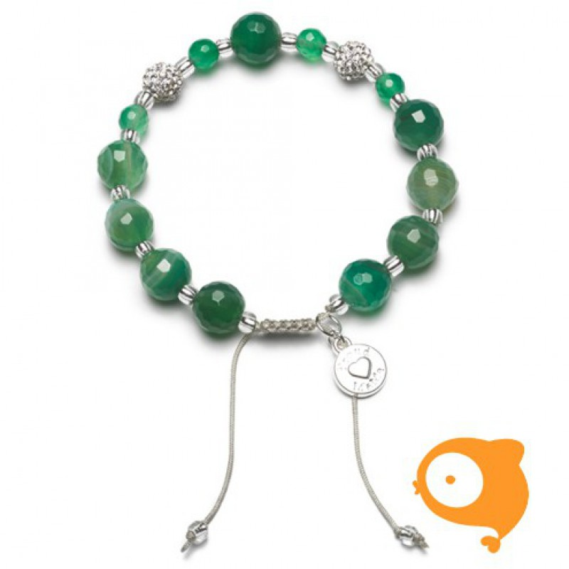Proud Mama - Armband agaat groen