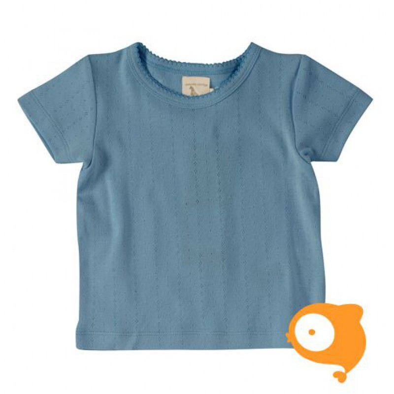 Pigeon - Pointelle T-shirt adriatic blue
