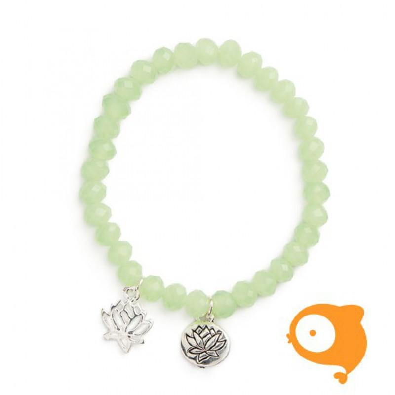 Mie Toe - Dochter armbandje lotus mint