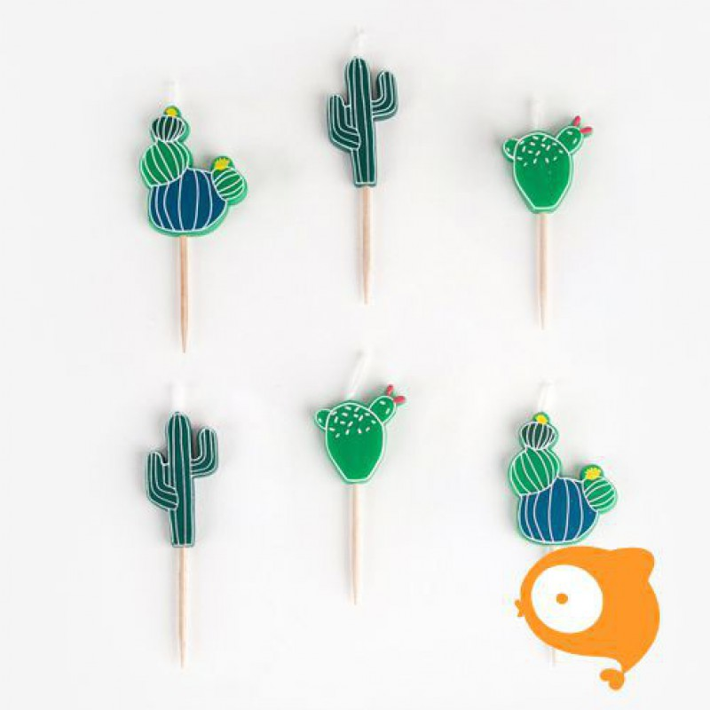 My little day - Kaarsjes cactus - set van 6