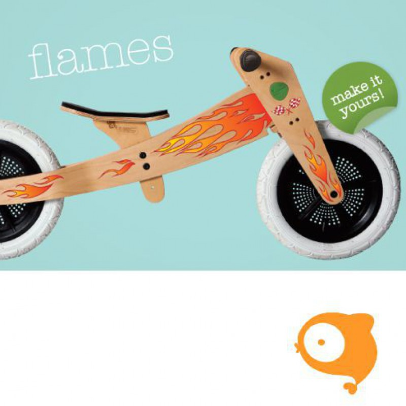 Wishbone - Stickers vlammen (voor Wishbone Bike original)