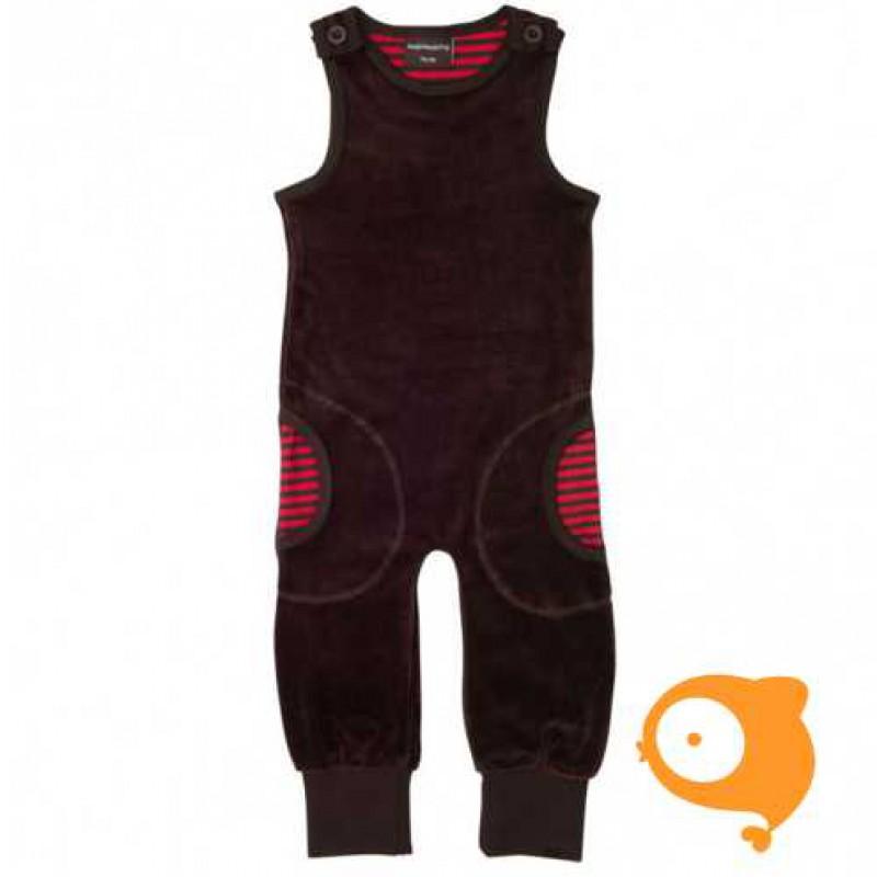Maxomorra - Jumpsuit velour dark brown