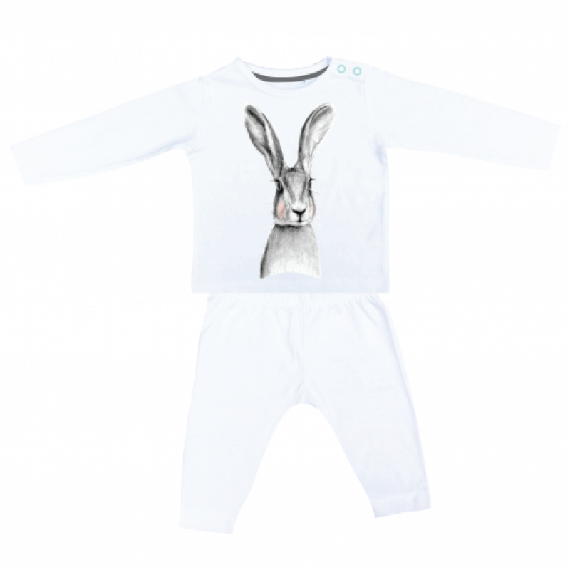 Miss princess and little frog - Pyjama longsleeve tencel konijn