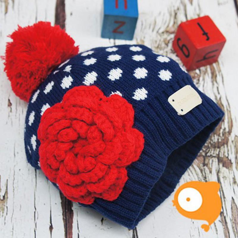 Blade&Rose - Mutsje NavyWhite Crochet Flower