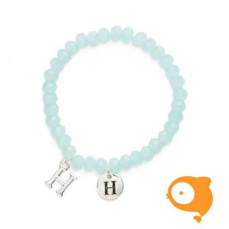 Mie Toe - Dochter armbandje met initiaal H