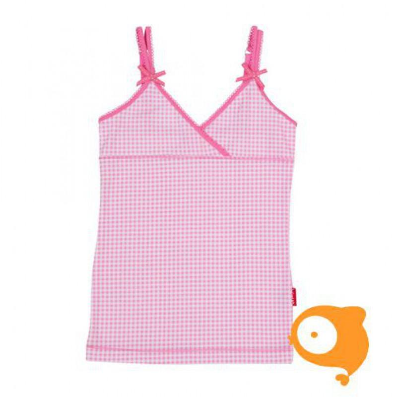 Claesen's - Onderhemd voor meisjes roze/wit geruit