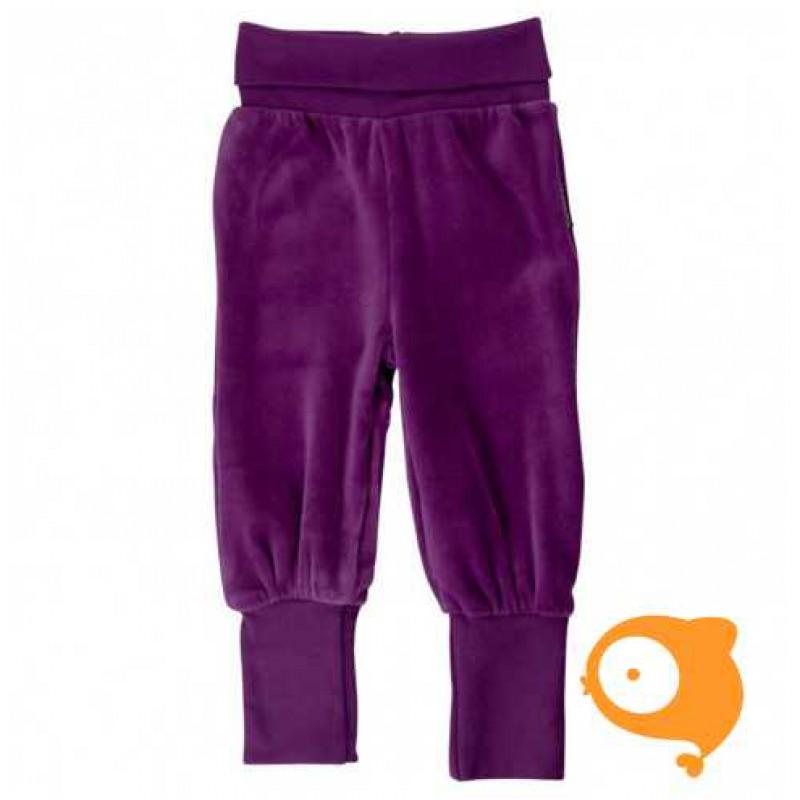 Maxomorra - Pants rib velour purple