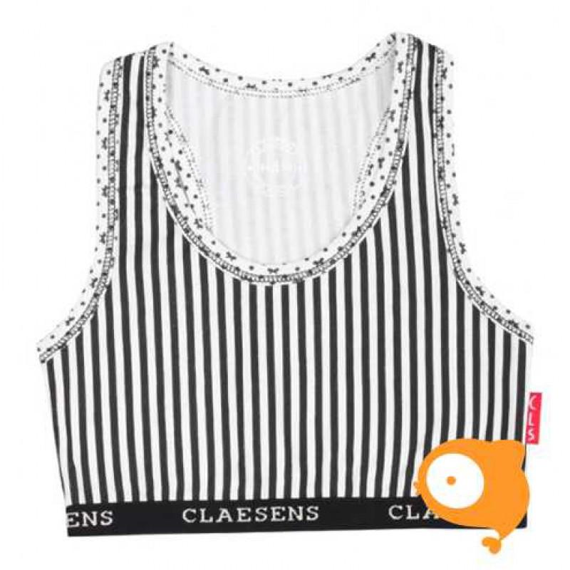 Claesen's - Girls crop top ribbon/stripes