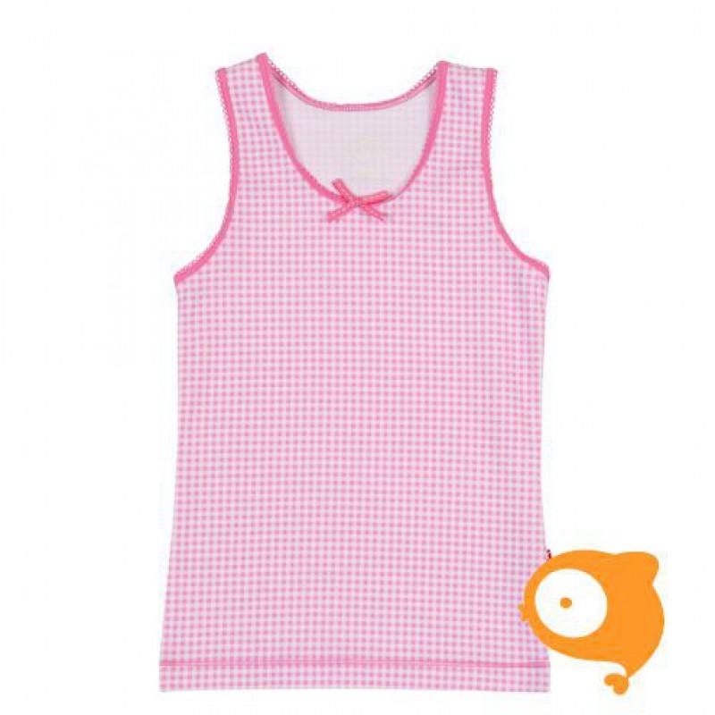 Claesen's - Onderhemd brede bandjes voor meisjes roze/wit geruit