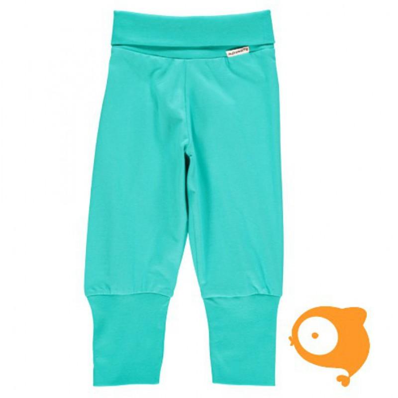 Maxomorra - Pants rib turquoise