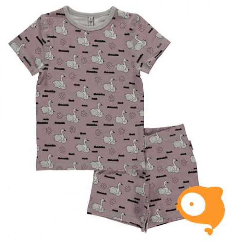 Maxomorra - Pyjama set SS swan baby pond