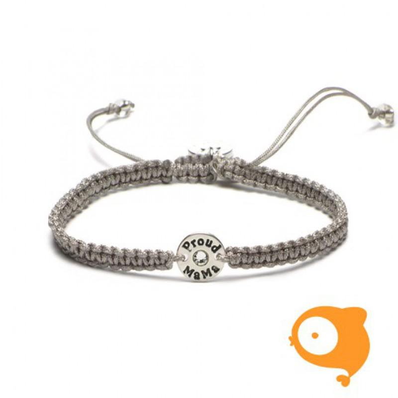 Proud Mama - Armband initials proud mama kristal