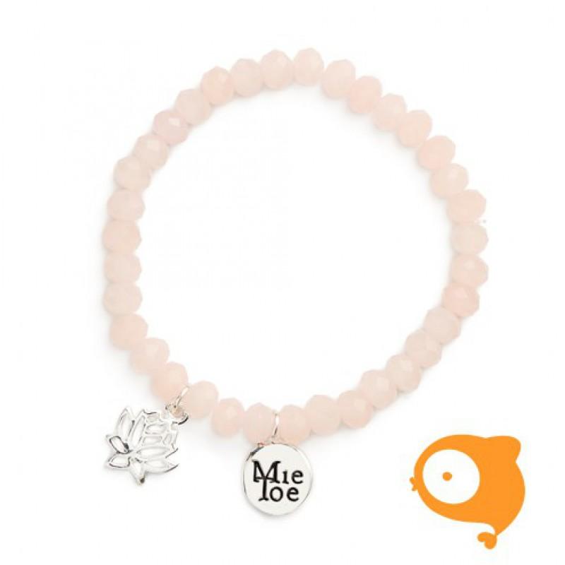 Mie Toe - Dochter armbandje lotus pink
