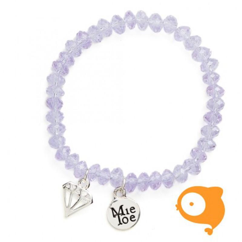 Mie Toe - Dochter armbandje diamond purple