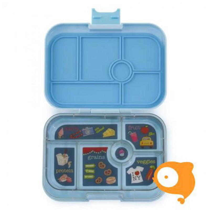 Yumbox - Original Liberty blue met 6 compartimenten NYC tray