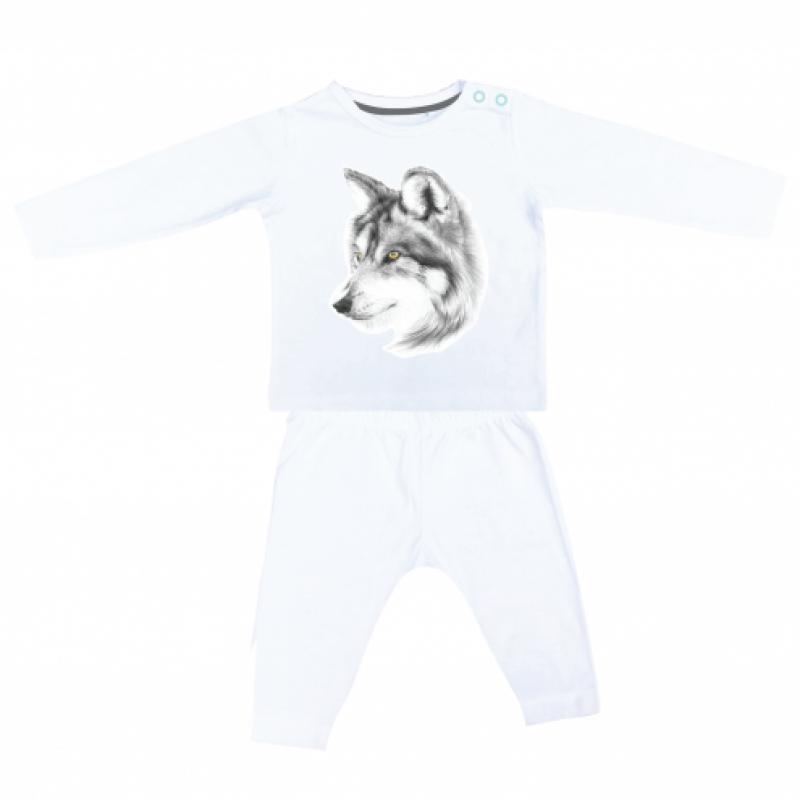 Miss princess and little frog - Pyjama longsleeve tencel wolf