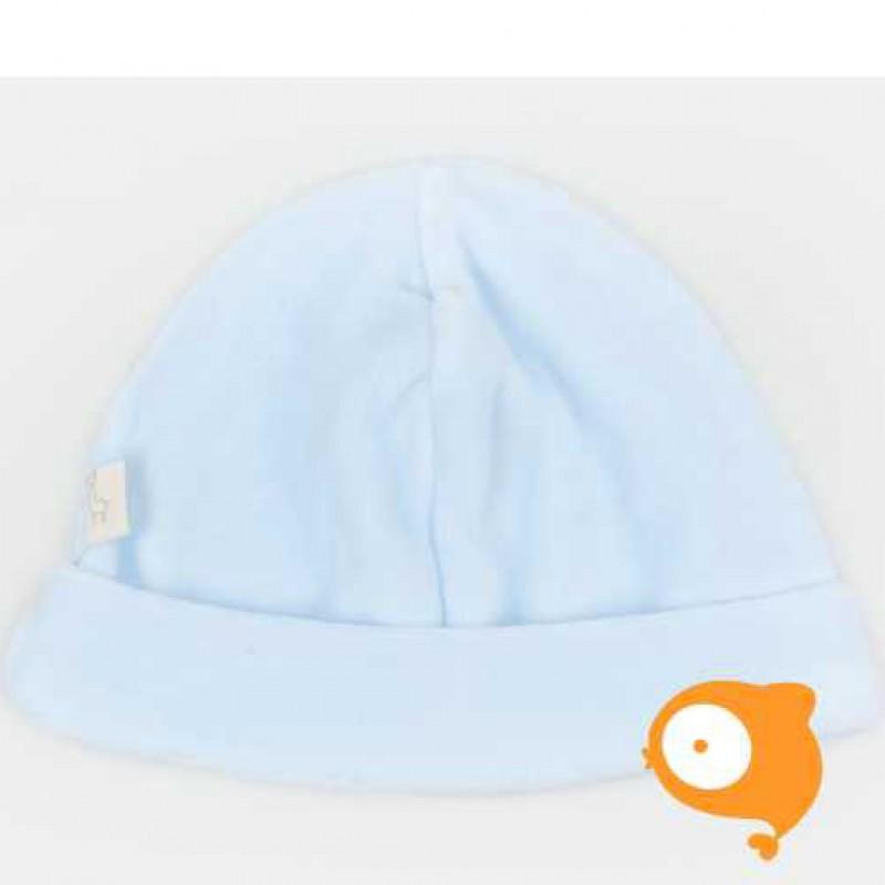 Baby Gi - Baby mutsje velours blauw