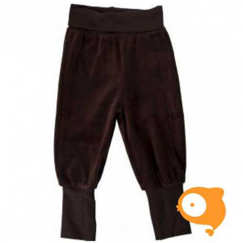 Maxomorra - Pants rib velour dark brown