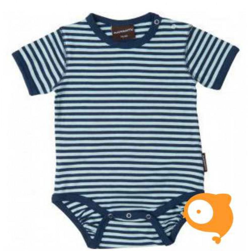 Maxomorra - Body SS stripe SS blue/blue