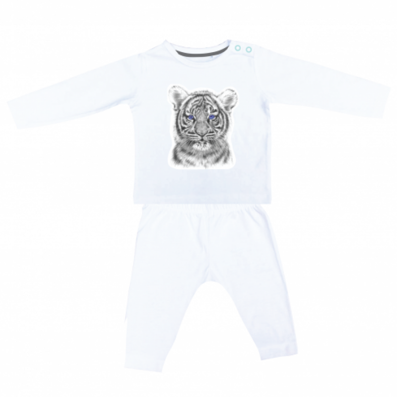 Miss princess and little frog - Pyjama longsleeve tencel tijger