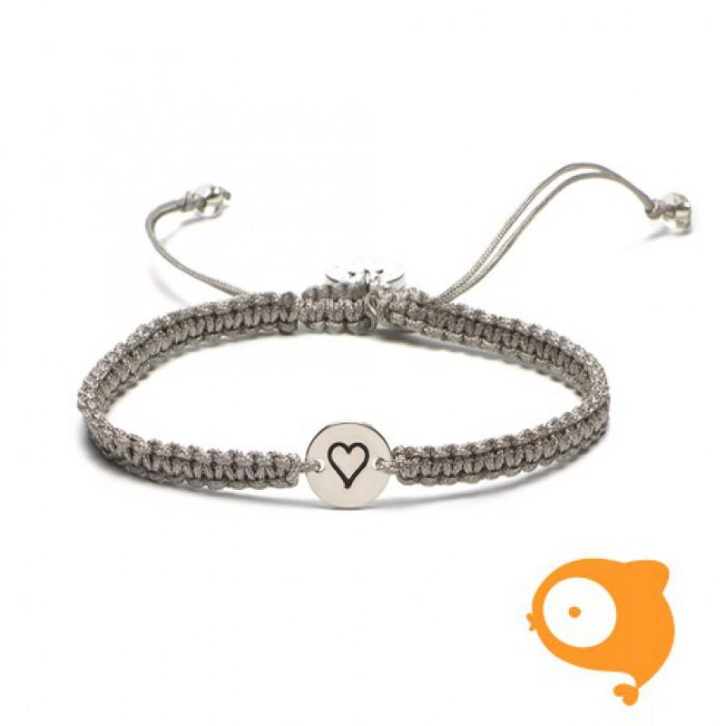 Proud Mama - Armband initials hart
