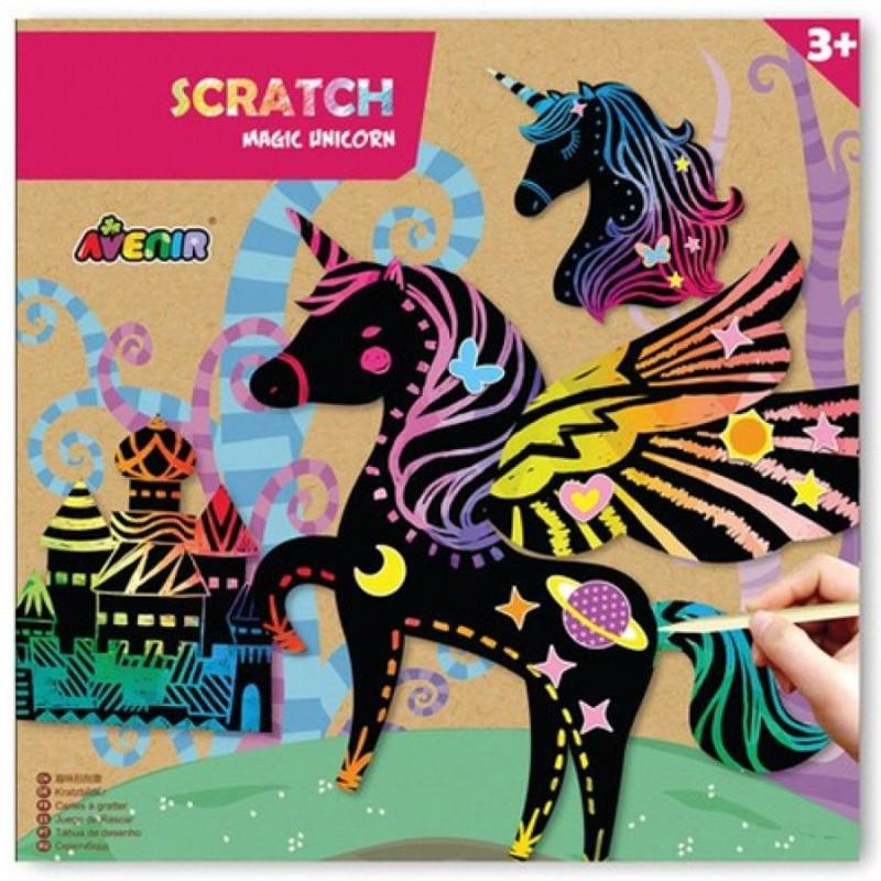 Avenir - scratch art - Magische eenhoorns