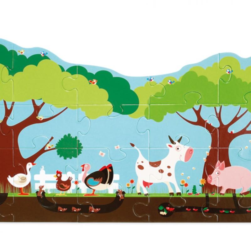 Scratch - vloerpuzzel boerderij