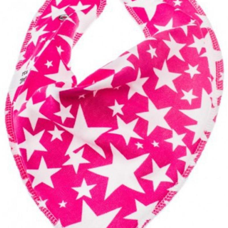 Bibble - Zeverslab roze met witte sterren