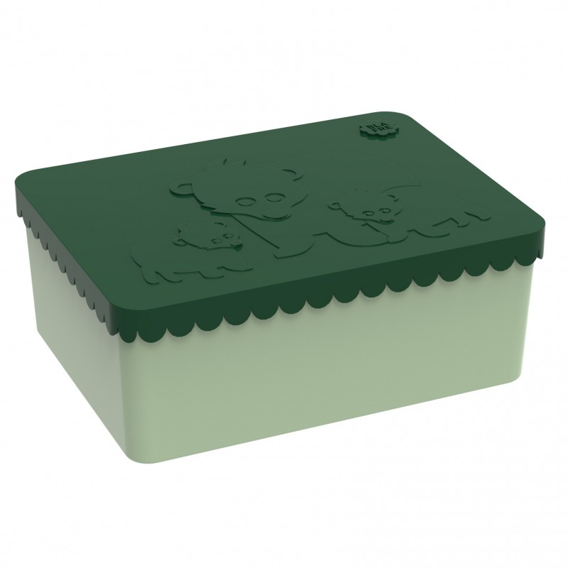 Blafre - lunchbox HDPE bear dark green