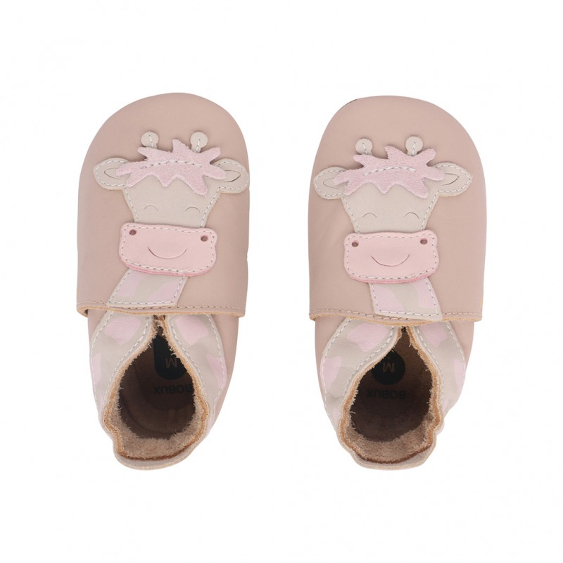 Bobux - Soft soles beige Giraffe