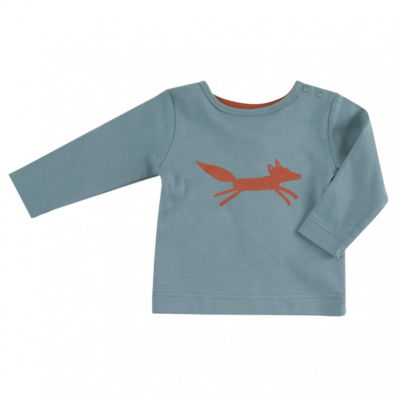 Pigeon - Longsleeve fox on blue