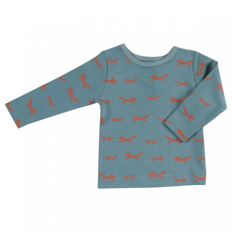 Pigeon - Longsleeve foxes on blue
