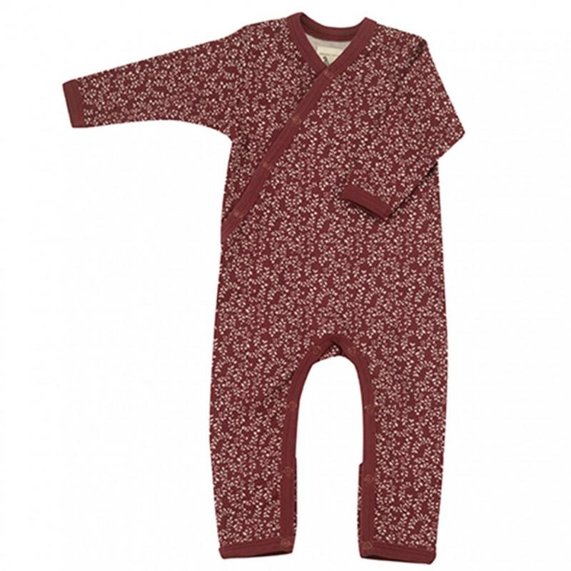 Pigeon - pyjama romper leaf - red