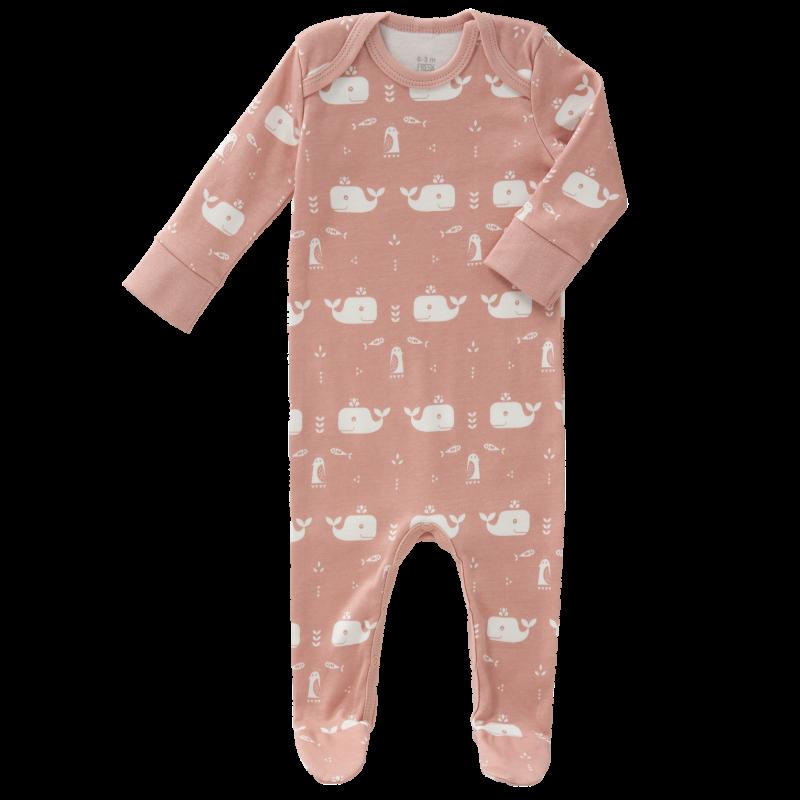 Fresk - pyjama met voet Whale mellow rose