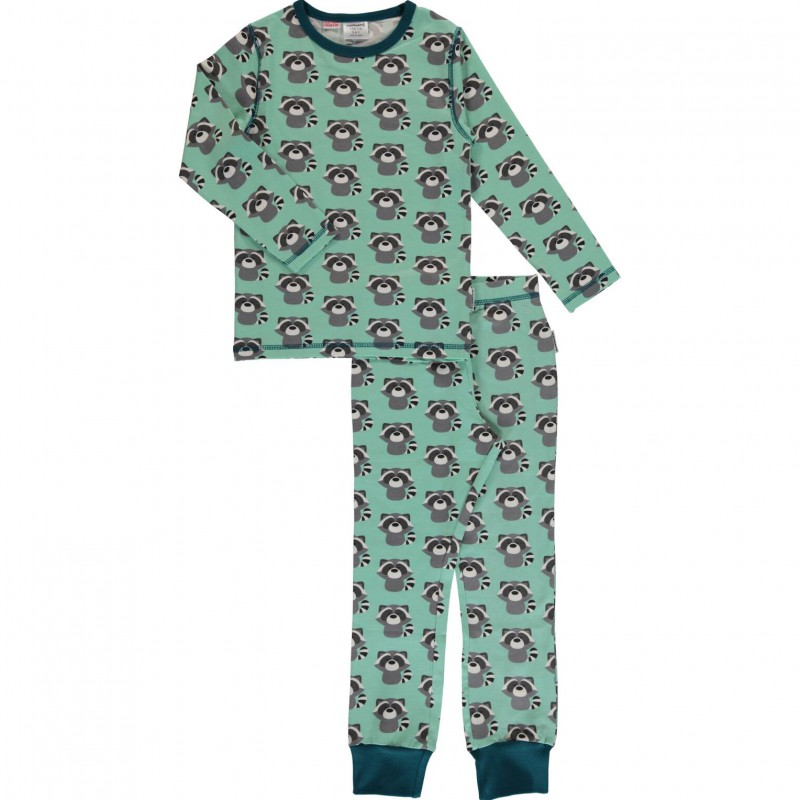 Maxomorra  - Pyjama Set LS raccoon