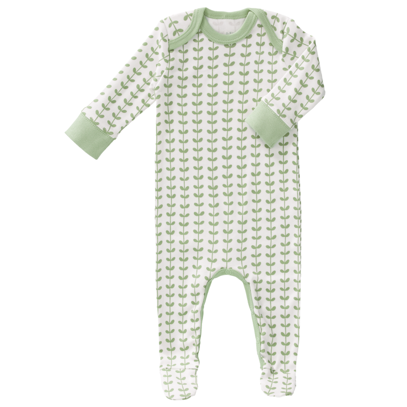 Fresk - pyjama met voet Leaves mint