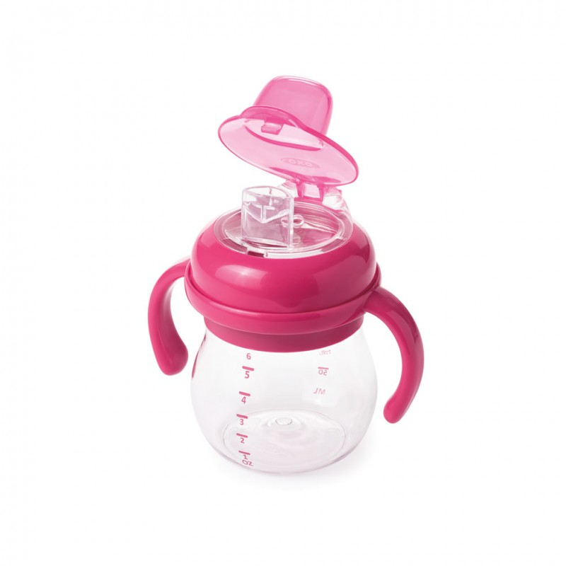 OXO tot - Soft Spout Cup with removable handles (150 ml) - pink