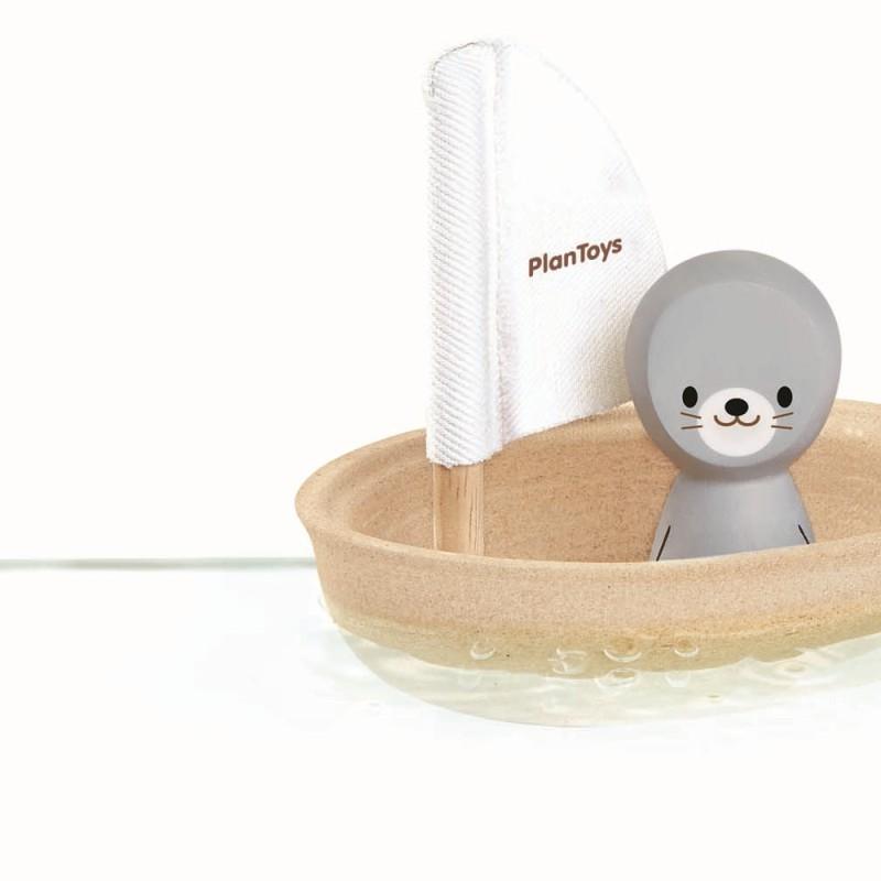 PlanToys - Zeilboot Zeehond