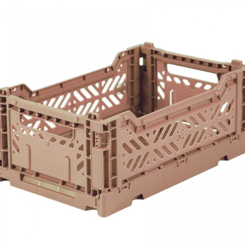 Eef Lillemor - Folding Crate Warm Taupe - midi