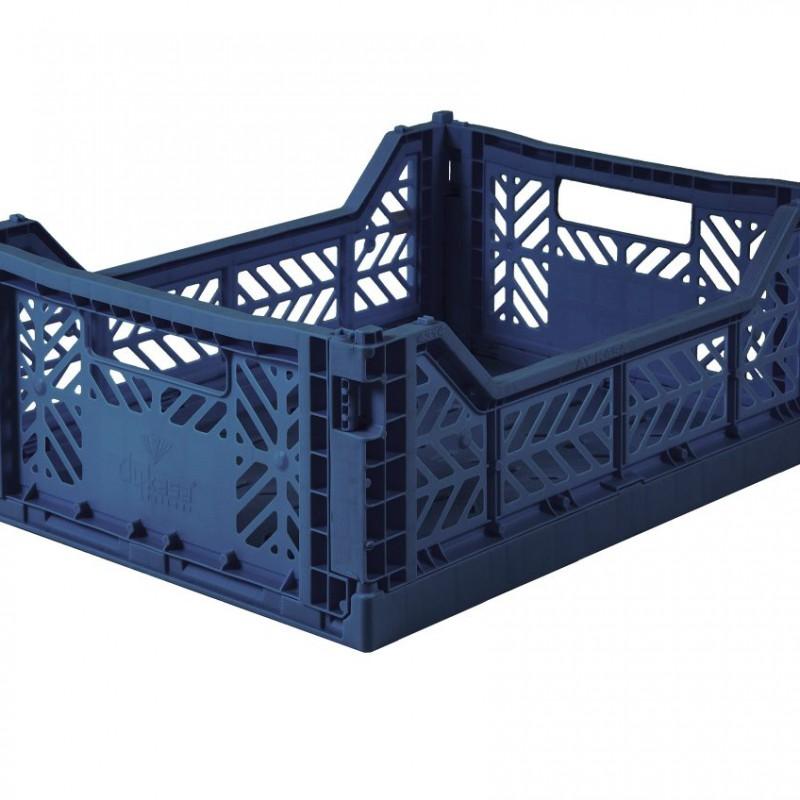 Eef Lillemor - Folding Crate Navy - midi