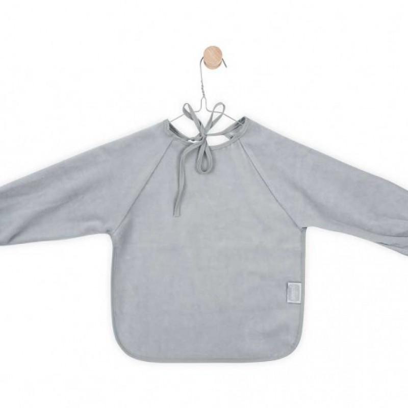 Jollein - slab waterproof met mouw velvet terry soft grey