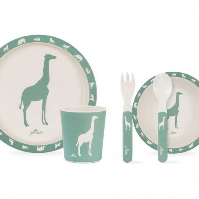 Jollein - Dinerset Safari forest green