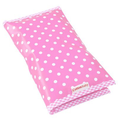 Cottonbaby - Luieretui roze met stippen